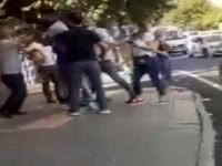 'Öksürük' kavgası dışarıda da devam etti, ortalık savaş alanı